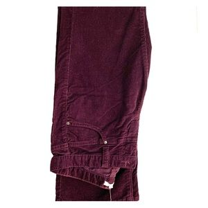 Anthropologie Purple Corduroy Pants